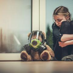 child and bear