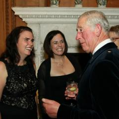 The Prince of Wales hosted a dinner for the group