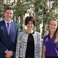 Executive Principal of Marsden State High School Andrew Peach, Head of the UQ School of Psychology Virginia Slaughter, Provisional Psychologist Sally Arthur
